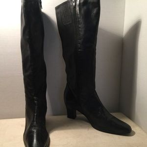 Mister Shoes Black Leather Boots